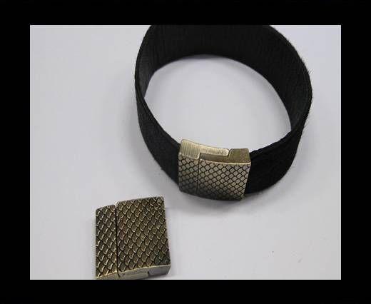 Zamak magnetic claps MGL-246-20*3mm Antique Gold