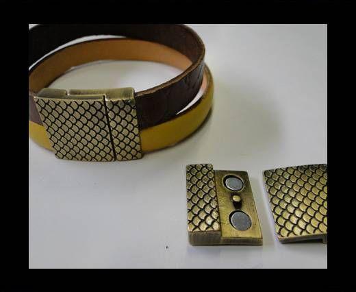 Zamak magnetic claps MGL-246-20*3MM-Y Antique Gold