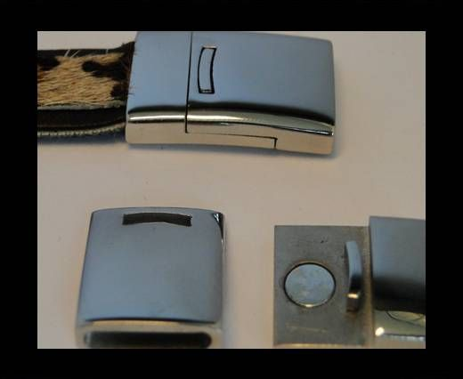 Stainless Steel Magnetic Clasp,Steel,MGST-109-14*2,5mm