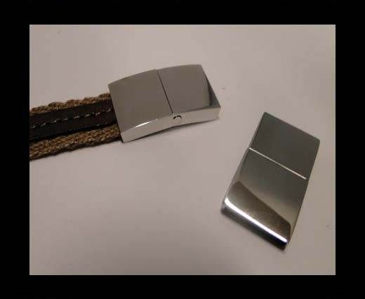 Stainless Steel Magnetic Clasp,Steel,MGST-114-15*3mm