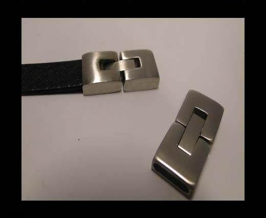 Stainless Steel Snap Lock Clasp - MGST-14-10*3.5mm-Matt