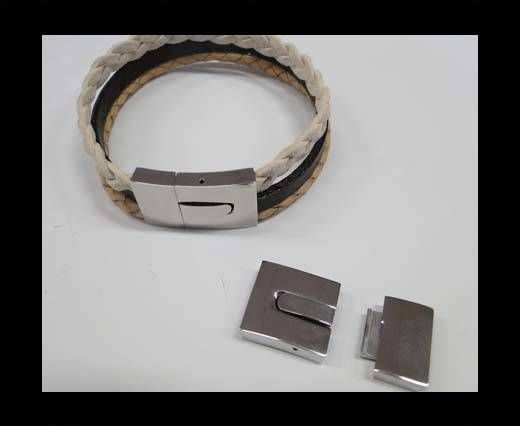 Stainless Steel Magnetic Clasp,Steel,MGST-161-15*3mm