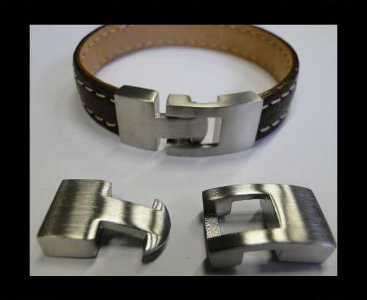 Stainless Steel Hook Clasp - MGST-24- Matt Steel - 10x3mm