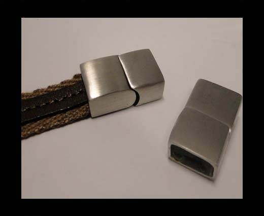 Stainless Steel Magnetic Clasp,Matt,MGST-94-14*6mm
