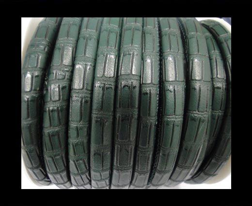 Cuero de nappa de alta calidad -Estilo Cocodrilo- Verde- -6mm