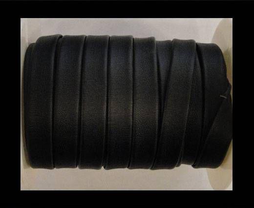 Nappa Flat PU Leather-Black-10mm