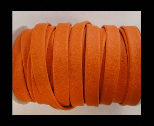Nappa Flat PU Leather-Orange-10mm