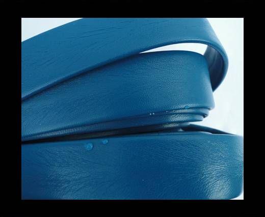 Nappa Leather Flat-Bermuda Blue-20mm