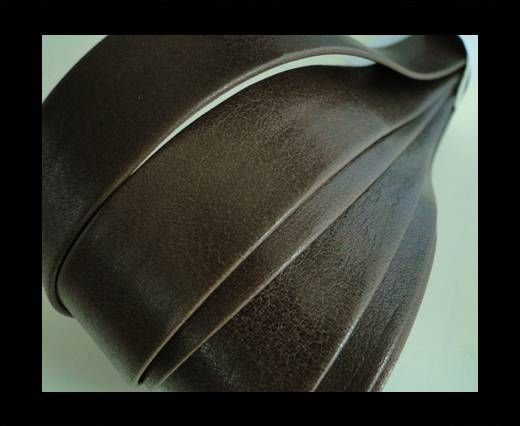 Nappa Leather Flat-Brown-20mm