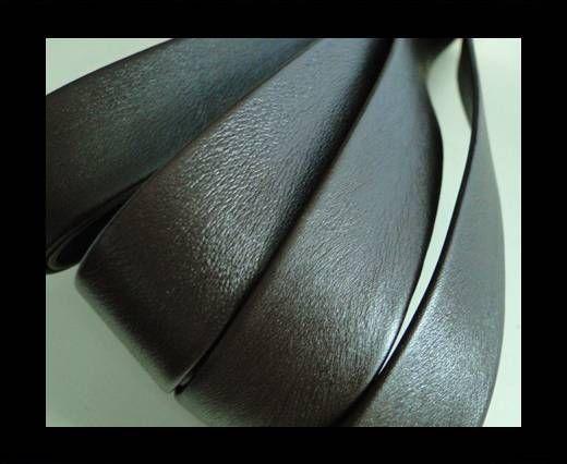 Nappa Leather Flat-Dark Brown-20mm