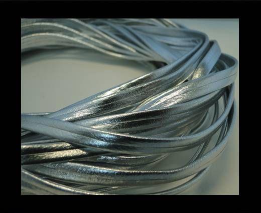 Nappa Leather Flat -Metallic Silver-5mm