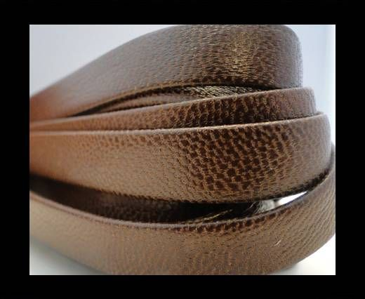 Nappa Leather Flat-Dotted Brown-10mm