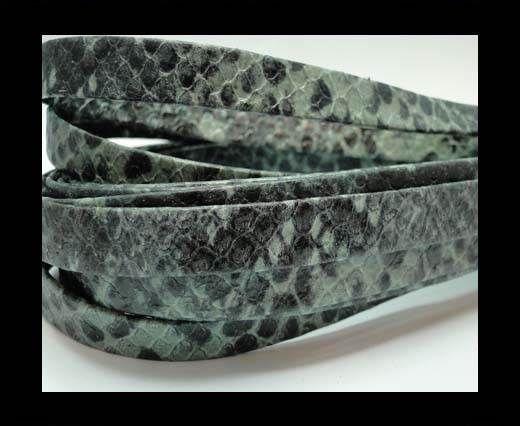 Nappa Leather Flat -10mm-Python Green