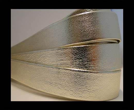 Nappa Leather Flat-Platinum Lamina-20mm