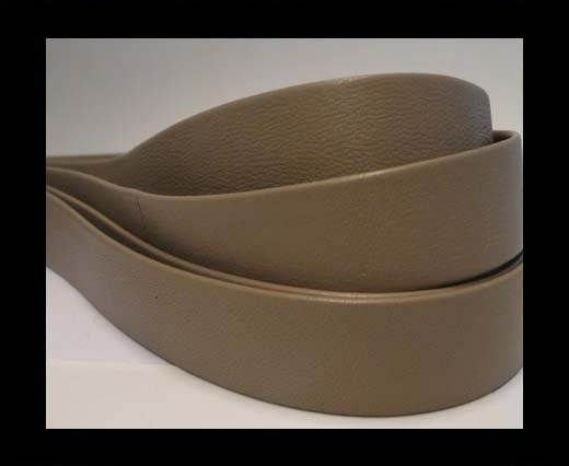 Nappa Leather Flat-Medium Taupe-20mm