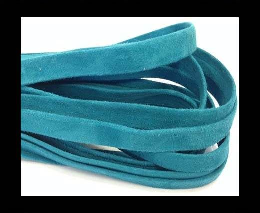 Nappa Leather Flat -10mm-Turquoise Suede