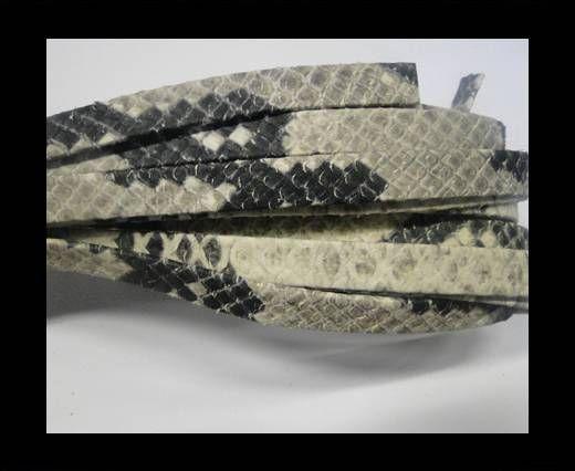 NappaFlat-Snake Style-10mm-black-beige