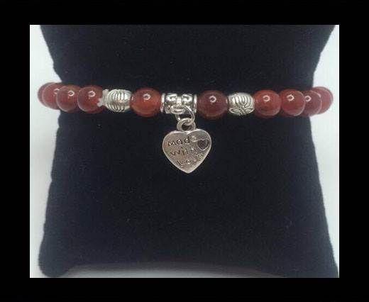 Natural Stone Bracelet 11 Carnelian