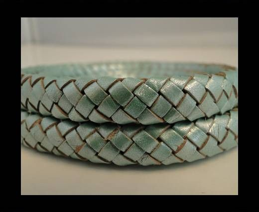 Oval Braided Leather Cord - SE-M-02