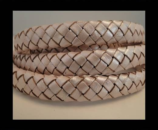 Oval Braided Leather Cord - SE-M-11