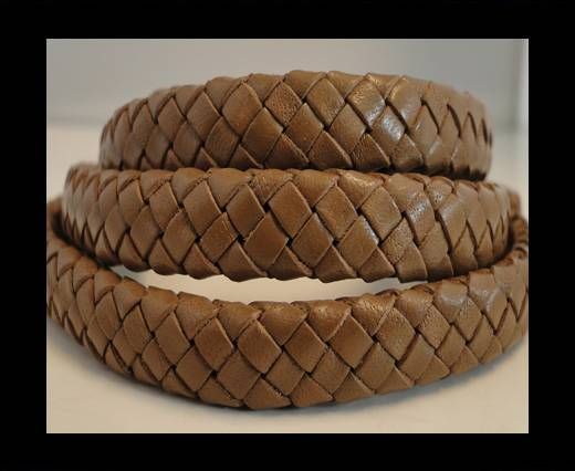 Oval Braided Leather Cord - SE-PB-07