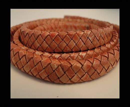 Oval Braided Leather Cord - SE-PB-14