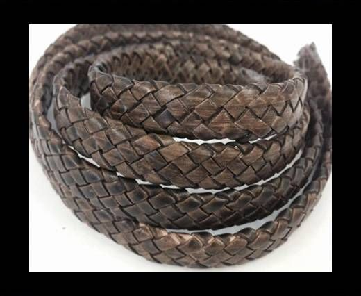 Oval Braided Leather Cord - SE-PB-11