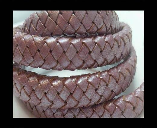 Oval Braided Leather Cord - SE M 15