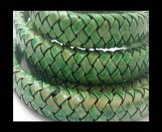 Oval Braided Leather Cord - SE PB 01