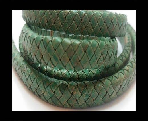 Oval Braided Leather Cord - SE PB 18