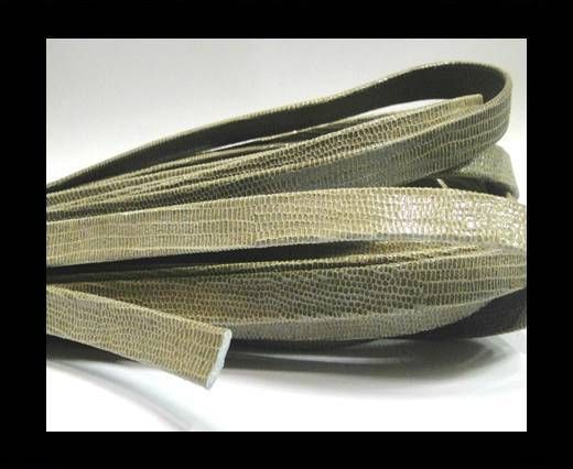 Real Flat Leather - 10mm - Lizard Sand