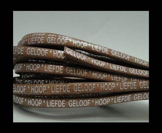 Real Flat Leather-5MM-IK HOU VAN JOU-silver-Beige