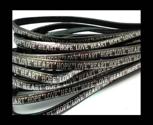 Real Flat Leather-5MM-Hope Love Heart style-Canna Fucile