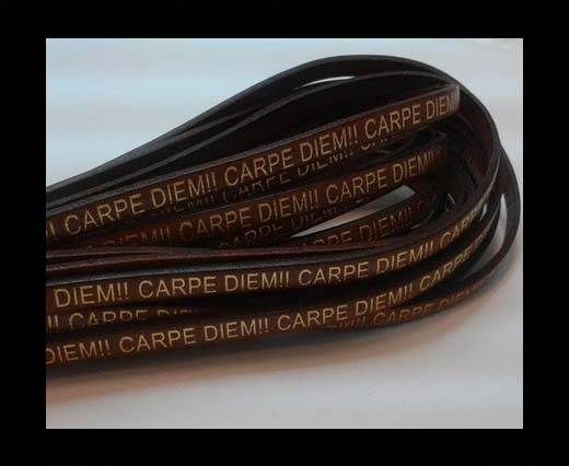 Real Flat Leather-CARPIDIEM-Brown