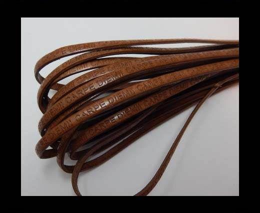 Real Flat Leather-CARPIDIEM-Brown 3079