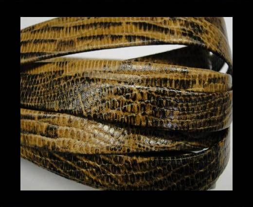Real napa 10 mm Flat - Snake style Light brown black