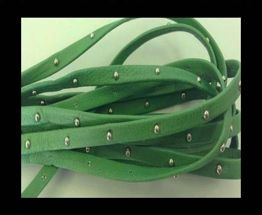 Real Nappa Leather with studs - 5mm - Mint