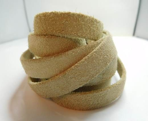 Real Nappa Leather. Flat folden renforced- Suede Natural-10mm