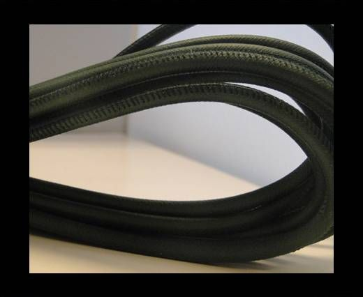 Buy Round stitched nappa leather cord Snake Green-4mm at wholesale price
