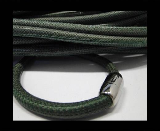 Real Nappa Round-Snake Skin Green -6mm