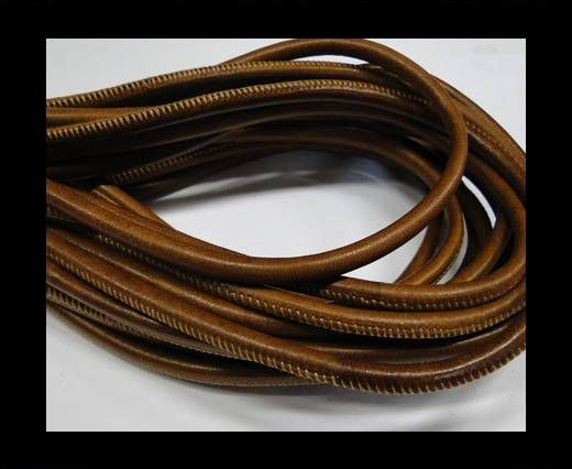 Real Nappa Round Plain Style-6mm-Brown