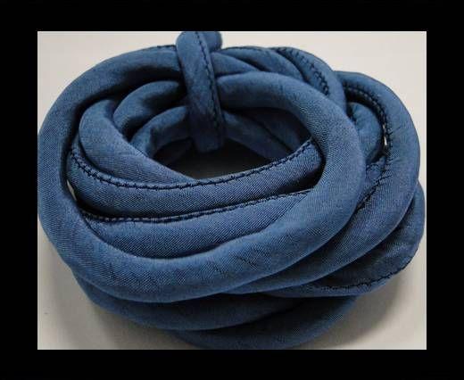 Cordones de seda rellenos de algodón - 8mm - Aguamarina