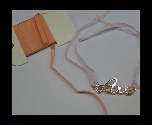 Real Silk Ribbons -A 067-Peach - 4mm