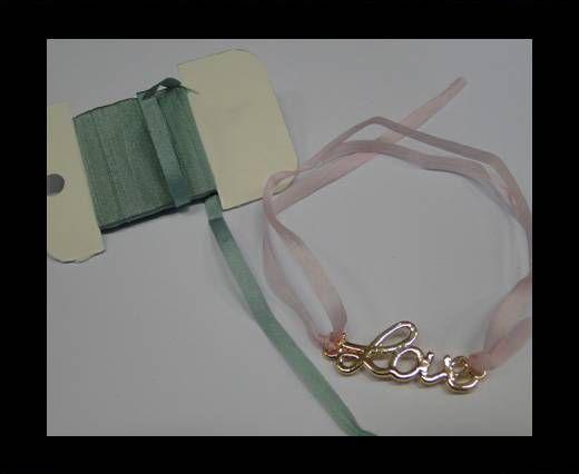 Real Silk Ribbons -A 147-Greyish Blue - 4mm