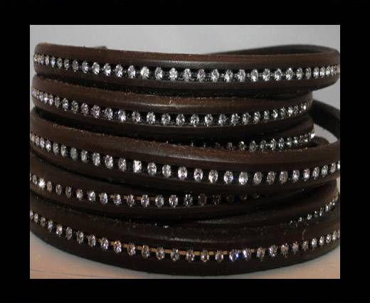 Regaliz-Leather-Crystal-Dark Brown