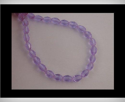 Rice Glass Beads -4mm*6mm-Aqua Marine