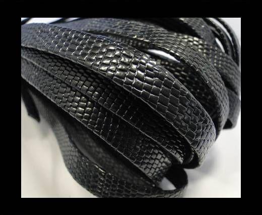 RNL - flat - Snake Style - Dark Brown - 10 mm