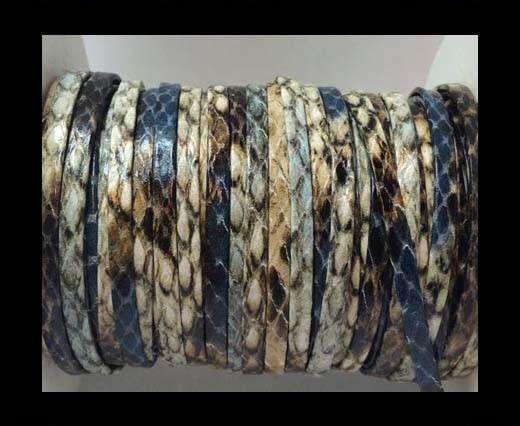 RNL-Flat Reinforced -5mm -python blue-brown