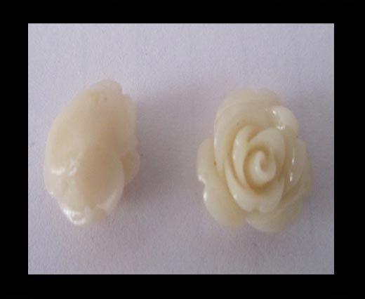 Rose Flower-8mm-Shell