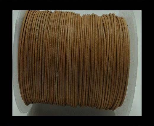 Round Leather Cord -1mm - Dark Natural